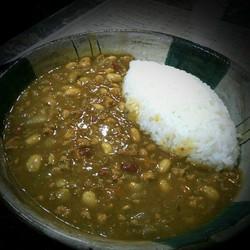 キーマカレーKeema curry and rice.800yen