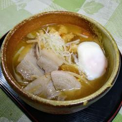 ヤマトポークの豚バラ入り豚汁うどんTonjiru-don1000yen