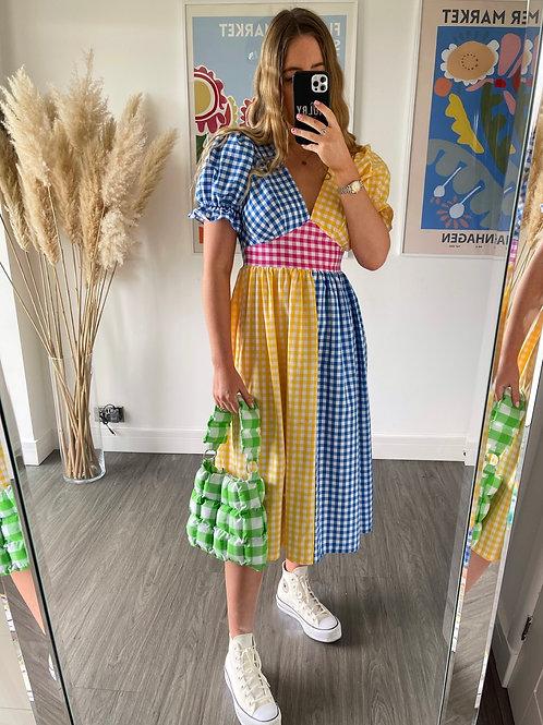 Tilda Dress - Blue & Yellow - Mini