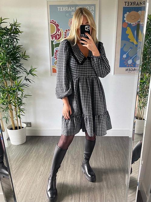 Bertie Dress - Grey Gingham Short