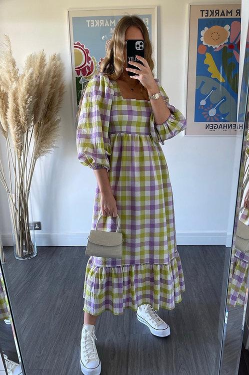 Patty Dress - Lilac & Lime