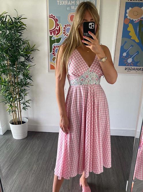 Frida Dress - Pink Gingham