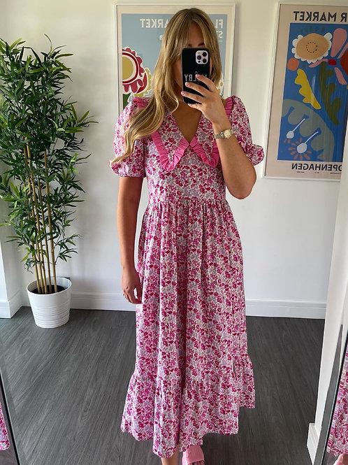 Bertie Dress - Pink Floral