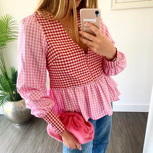 Tilda Top - Pink/Red