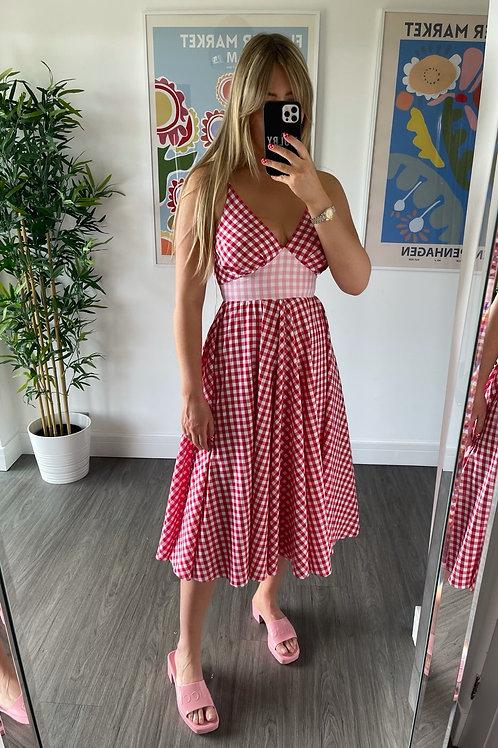 Frida Dress - Red Gingham