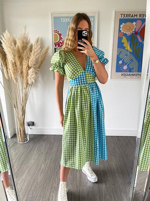 Tilda Dress - Blue & Green