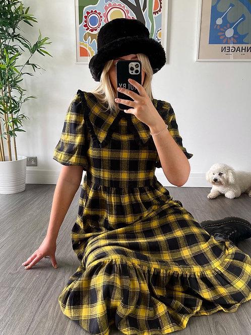 Billie Dress - Black/Yellow