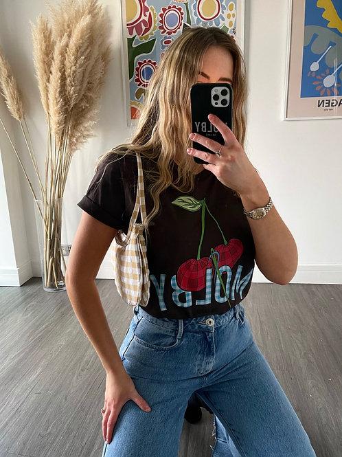 Cherry T Shirt - Brown