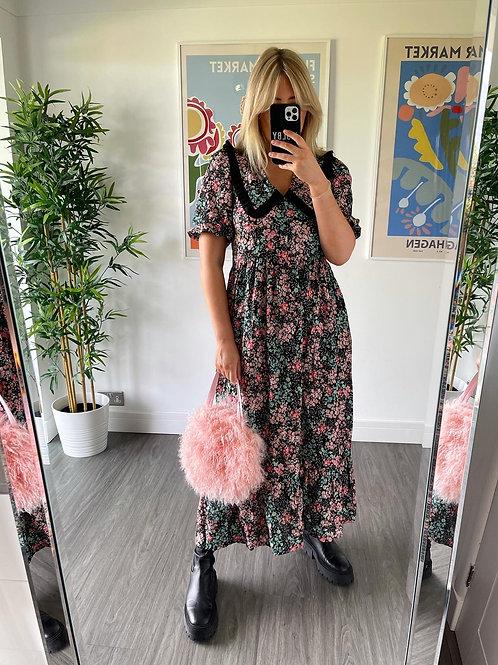 Bertie Dress - Black Floral