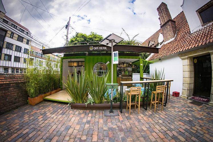 Barra Container Café Cultor Bogotá