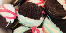 Gender Reveal Chocolate Dipped Oreos