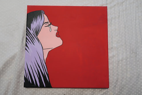 Kelsi Davies Pop Art Piece **ONLY 1 AVAILABLE** (12x12 Canvas) One of a kind!