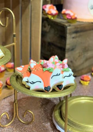 Baby Fox Sugar Cookies.KCB