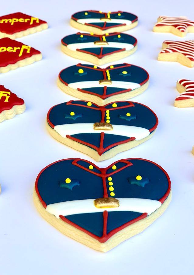 Marine Uniform Cookies.KCB