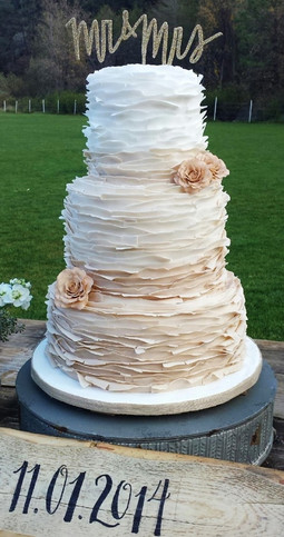Ruffled Wedding Cake
