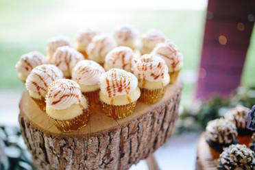 Caramel Wedding Cupcakes