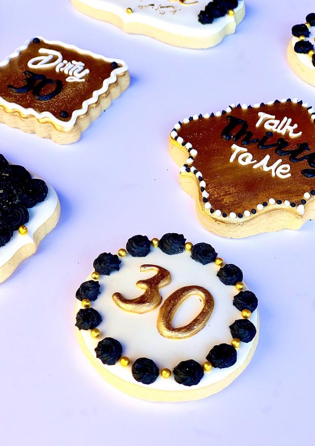 Thirtieth Birthday Cookies.KCB