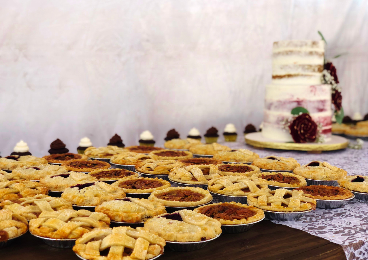 Assorted Wedding Pies.KCB