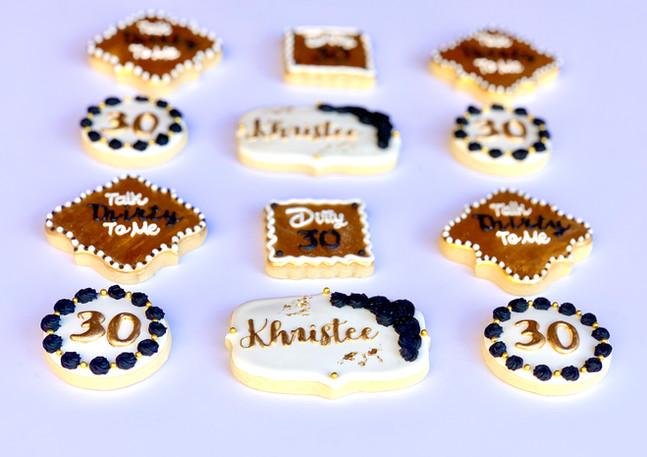 Thirtieth Birthday Sugar Cookies.KCB
