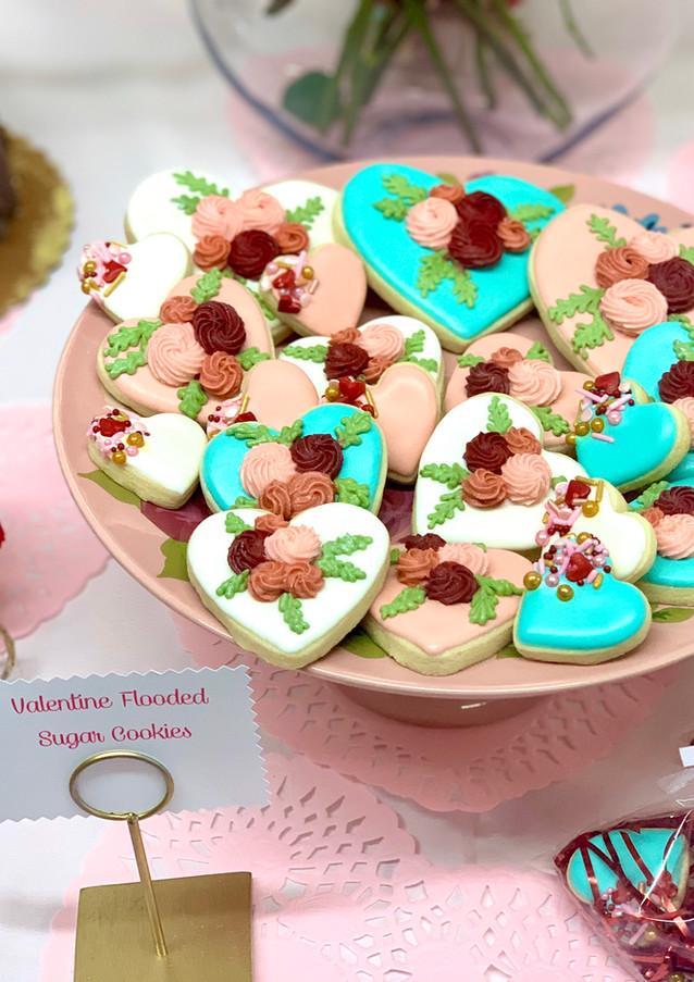Victorian Valentine Sugar Cookies.KCB