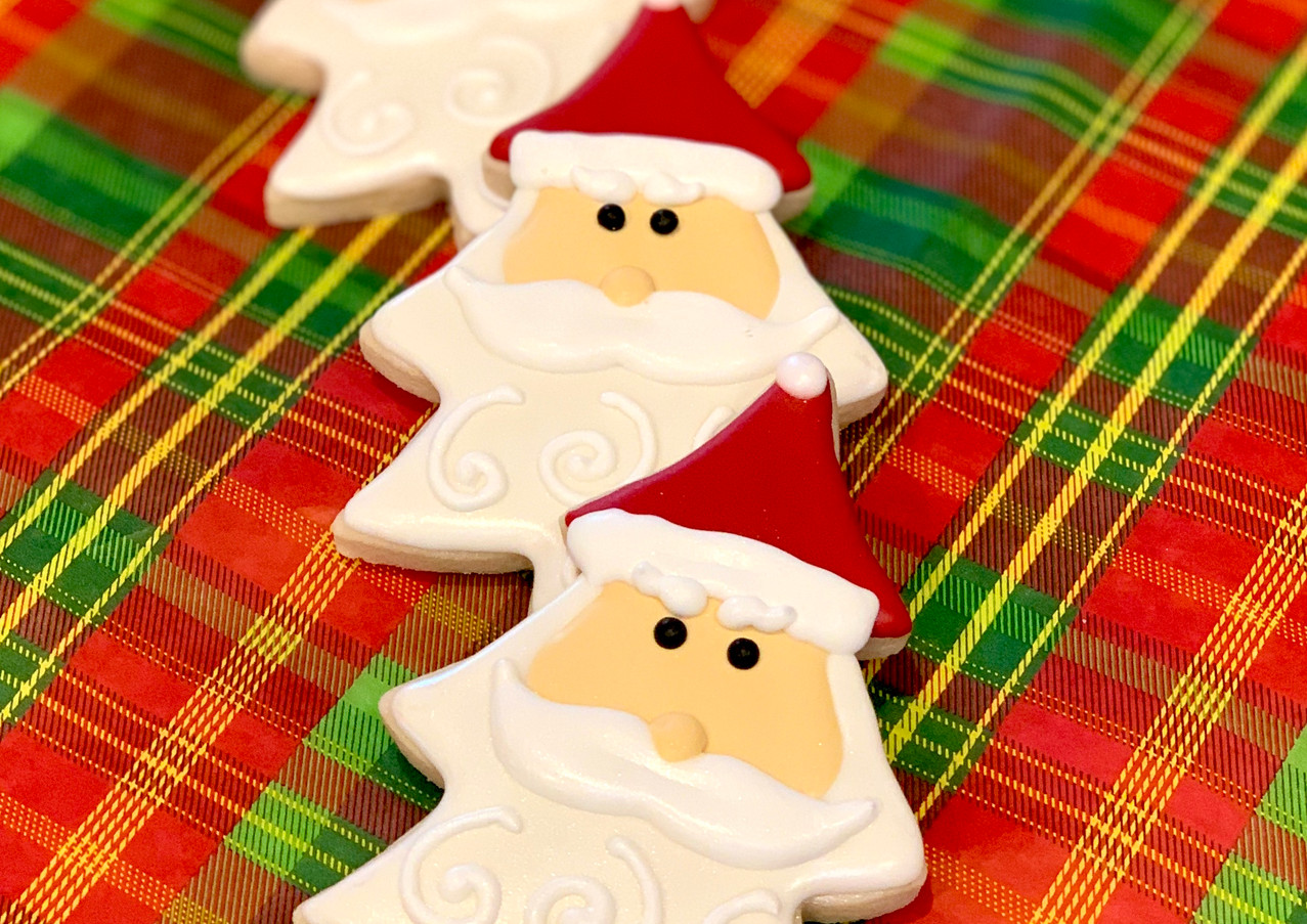 Santa Christmas Tree Cookies.KCB