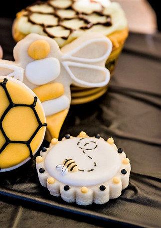 Bee Themed Baby Shower Cookies.KCB
