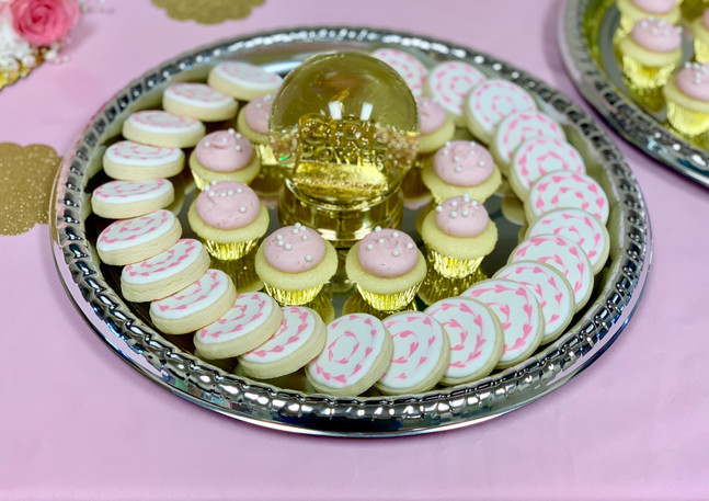 Pink Heart Baby Shower Cookies.KCB