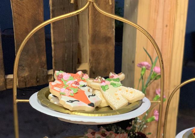 Fox/Tipi Baby Shower Cookies.KCB