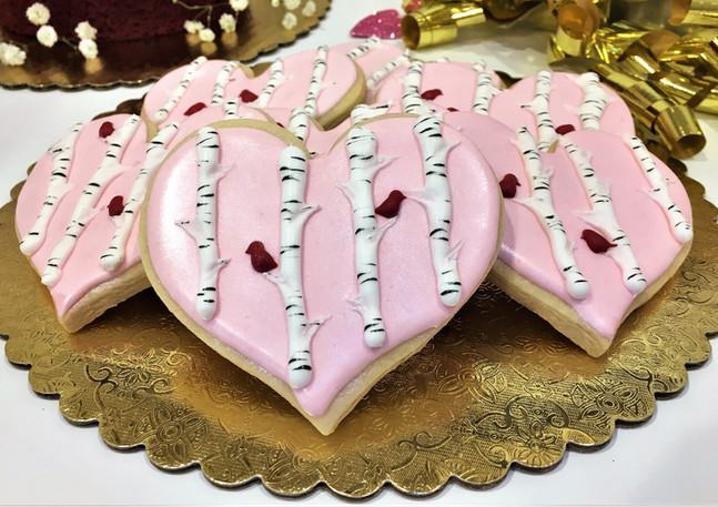 Birch Tree Valentine Cookies.KCB
