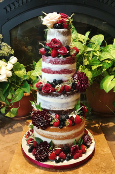 Tiered Naked Wedding Cake