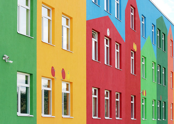 nice colorful house a kindergarten for c