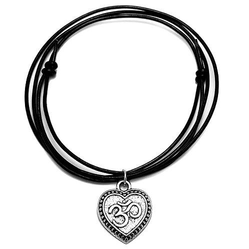 Om Heart Choker Necklace
