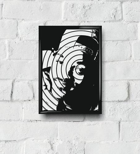 POP ART Music Icon stencil S-Z