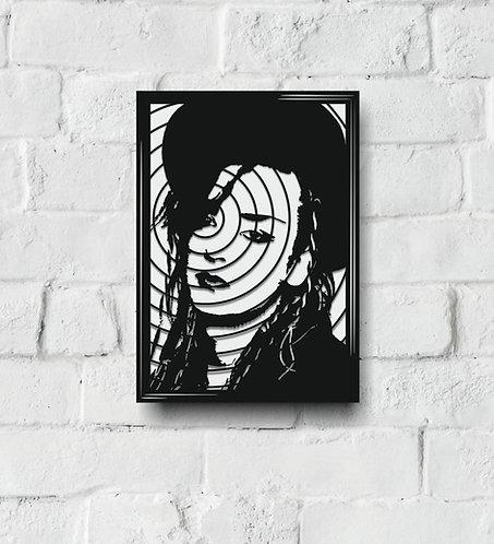 POP ART Music Icon stencil A-B
