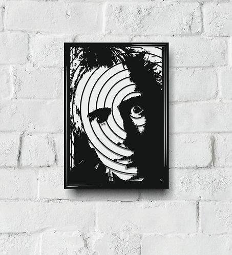 POP ART Music Icon stencil H-L