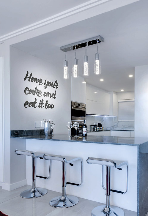 Acrylic Lettering - Kitchen