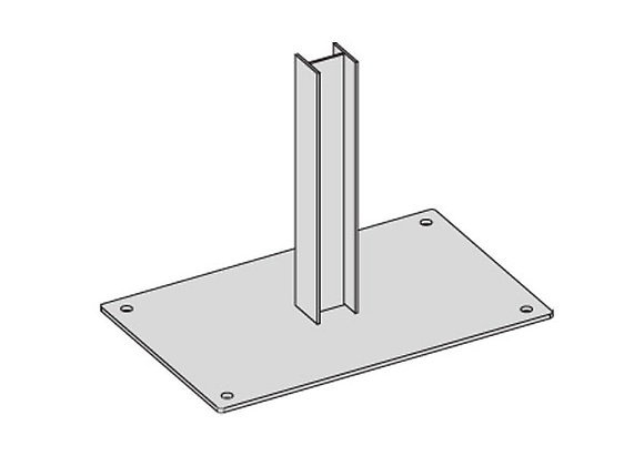 Galvanised Post Brace Plate