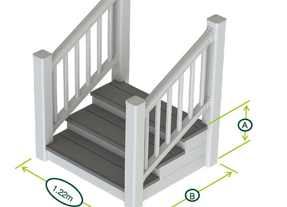 Stand Alone Steps - Double Handrail