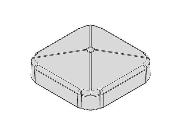 Woodgrain Foiled Standard Post Cap (pack of 4)