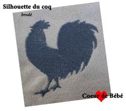 silhouette de coq