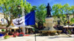 Drapeau principauté Aigues-Mortes