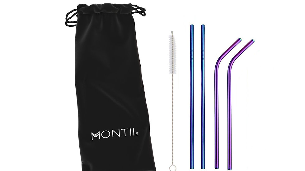Montiico Rainbow Straw Set