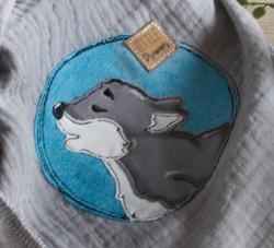 Button Wolf Erwachsener