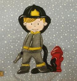Feuerwehrmann - Stickwolke