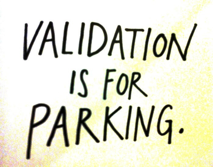 validation is for parking