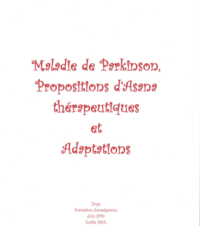 Parkinson,AsanaThérapeutiques,Adaptation