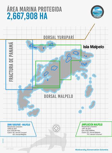 mapas malpelo biodiversity maps SFF Malpelo ampliacion area protegida