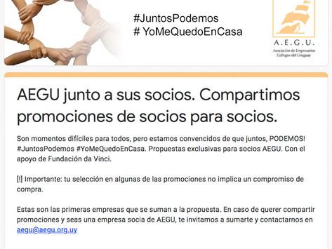 AEGU JUNTO A SUS SOCIOS - PROMOCIONES DE SOCIOS PARA SOCIOS.