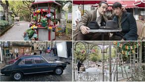 Santiago viaja al siglo XX para el rodaje de la película de Netflix 'Un hombre de acción'
