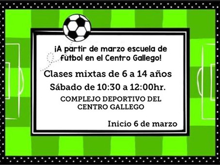 A solicitud del Centro Gallego informamos de esta actividad